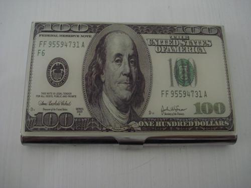 Porta Cartão De Visitas Dolar Inox   - PRESENTEPRESENTE