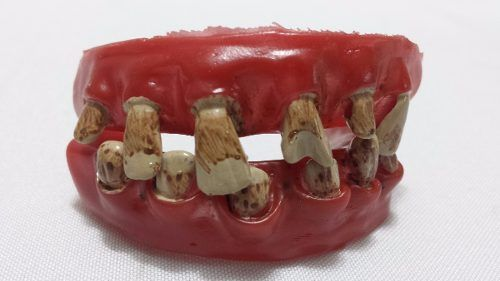 Dentadura Pirata Dente Podre Silicone Haloween  - PRESENTEPRESENTE