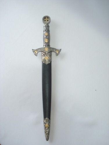 Espada Adaga Medieval 40cm Ordem Templaria Cruzadas Ke2037  - PRESENTEPRESENTE