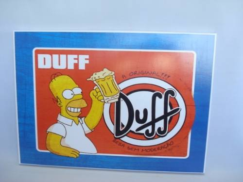 Placa Metal Os Simpsons 40x30 Duff  - PRESENTEPRESENTE