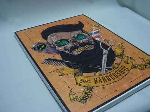 Placa Metal Barbeiro 40x30 Decoração Coleção  - PRESENTEPRESENTE