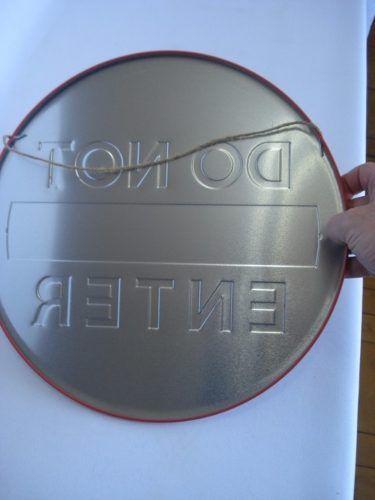 Placa Metal Do Not Enter Decoração Coleção  - PRESENTEPRESENTE