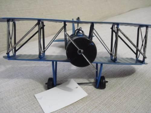 Avião Batalha Miniatura Metal Azul Red Target  - PRESENTEPRESENTE