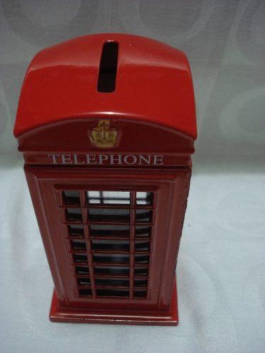 Cofre Cabine Telefone Londres Metal Retro/vintage  - José Geraldo Almeida Marques