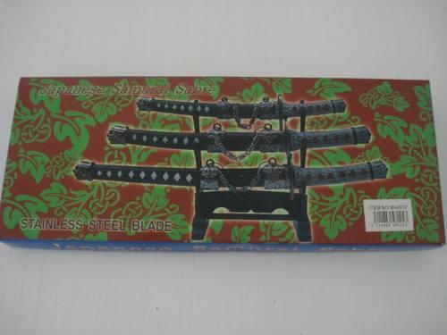 Espada Samurai Sabre Japones 3 Peças Decoração Enfeite  - Presente Presente