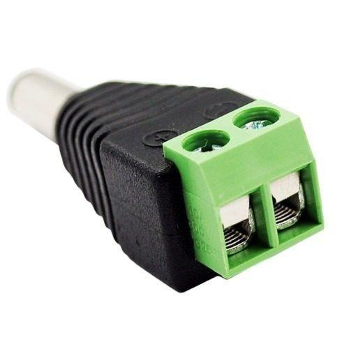 10 Peças Conector Plug Macho 5.5mm X 2.1mm Para Fita De Led  - PRESENTEPRESENTE