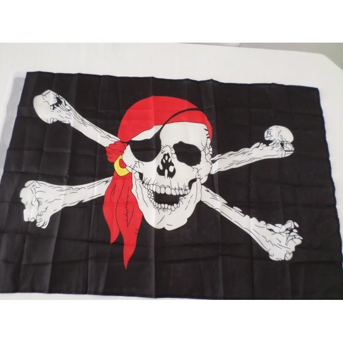 Bandeira Pirata Jolly Roger 90x60cm  - PRESENTEPRESENTE