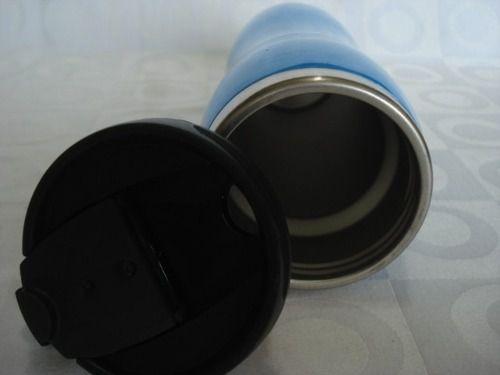 Caneca Inox Azul Com Tampa  - PRESENTEPRESENTE