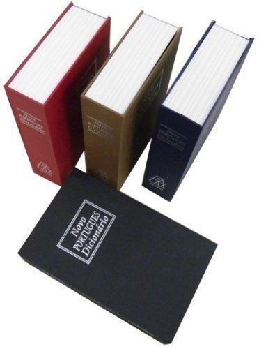 Cofre Em Forma Livro Dicionario Aço Joias Dinheiro Camuflado  - PRESENTEPRESENTE