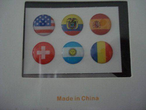 Adesivo Botão Iniciar Bandeiras  - PRESENTEPRESENTE