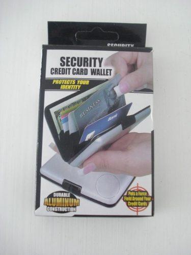 Carteira De Segurança De Aluminio Protege Cartões E Documentos  - PRESENTEPRESENTE