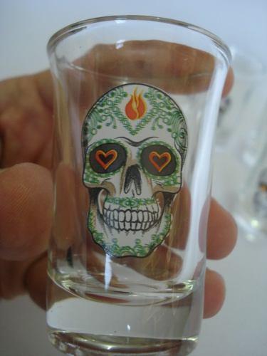 Conjunto Copos Drink Shot Caveira Mexicana  - PRESENTEPRESENTE