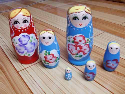 Boneca Matryoshka Russa 5 Peças  - PRESENTEPRESENTE