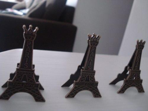 Clipe Prendedor De Papel Torre Eiffel 3 Peças  - Presente Presente