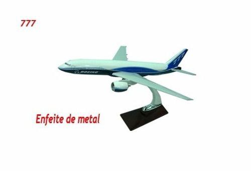 Avião Boeing 777 30x30cm Avião Miniatura  - PRESENTEPRESENTE