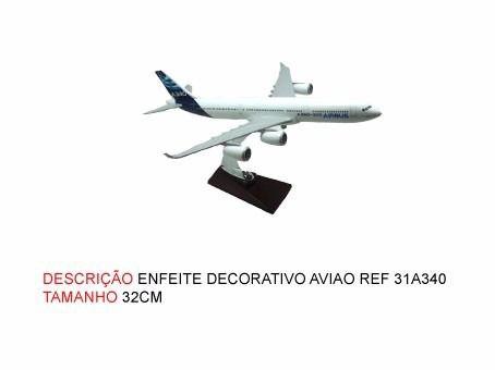 Airbus A340 32x30cm Avião Miniatura  - PRESENTEPRESENTE