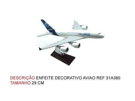 Airbus A380 31x28cm Avião Miniatura  - PRESENTEPRESENTE