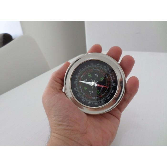 Bussola De Metal Grande 7cm  - José Geraldo Almeida Marques
