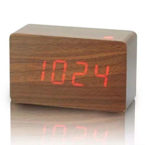 d76e134ae50 Relógio De Parede (mesa) Madeira Digital E De Led Decoração -  PRESENTEPRESENTE
