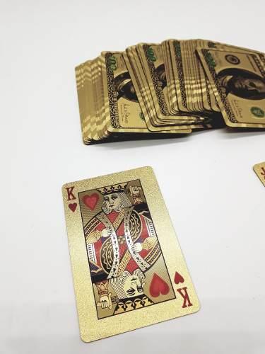 Baralho Luxo Gold Dolar Poker Truco E Jogos Diversos  - PRESENTEPRESENTE