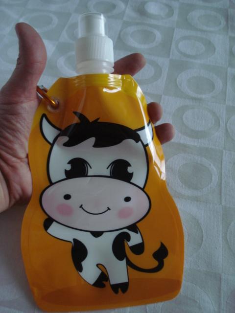 Garrafa De Água Dobrável Vaca Flexível Reutilizável  - José Geraldo Almeida Marques