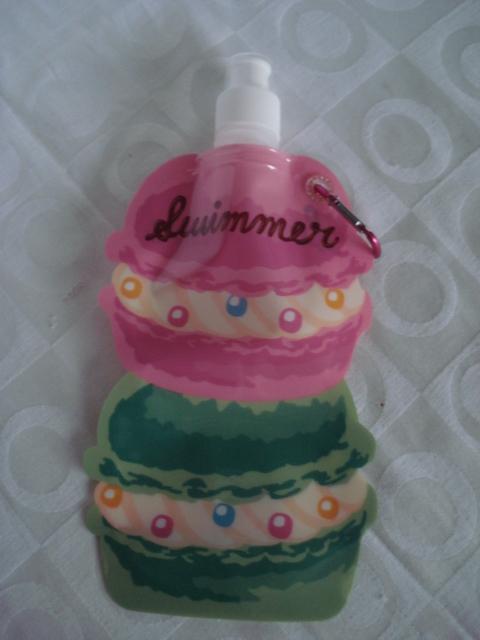 Garrafa De Água Dobrável Bolo Cupcake Flexível Reutilizável  - PRESENTEPRESENTE