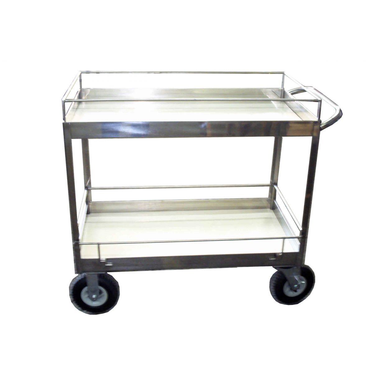 Carrinho para Vidraria  em aço inox  - Fábrica de Carrinhos em Aço Inoxidável