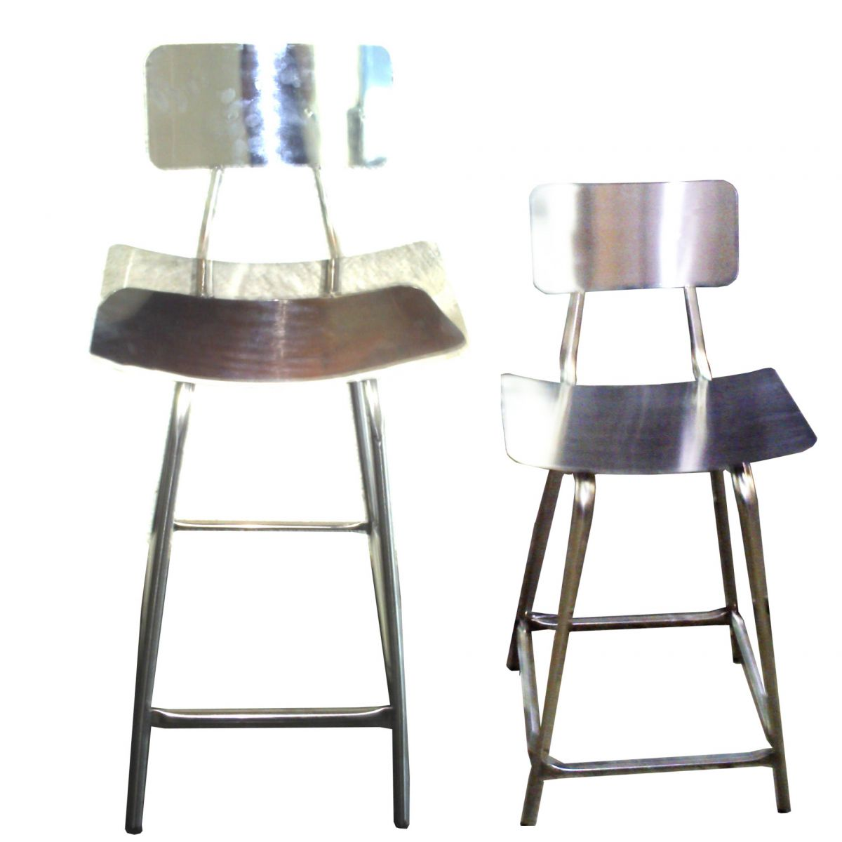 Cadeira fixa com encosto em aço inox  - Fábrica de Carrinhos em Aço Inoxidável