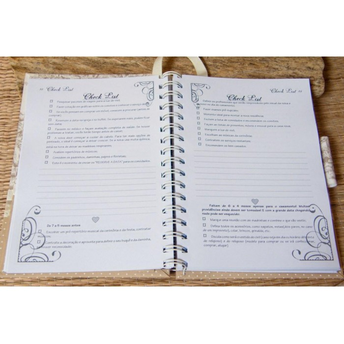Agenda da noiva - Guia para Casamento - Belle