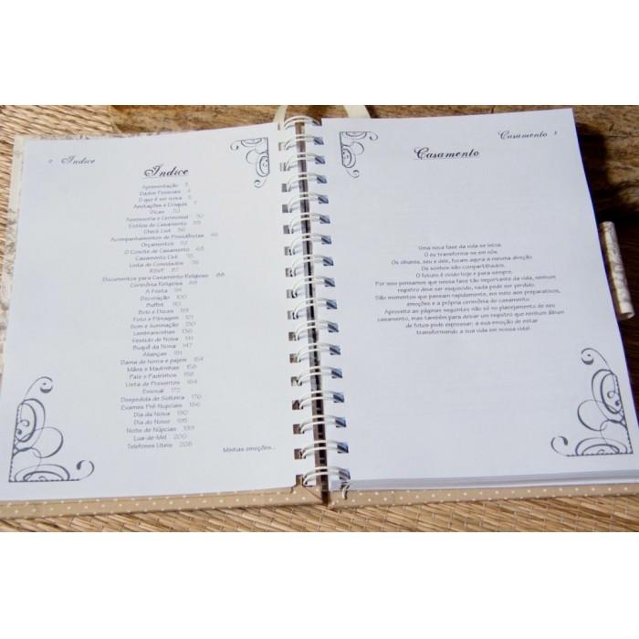 Kit de Agenda da Noiva e Pasta da Noiva Timeless