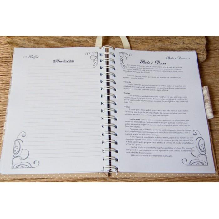 Kit de Agenda da Noiva e Pasta da Noiva Gorgeous