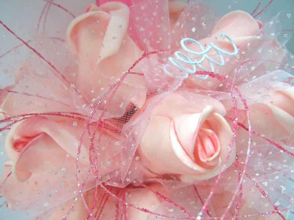 Porta-Alianças de Casamento - Fancy Rosa