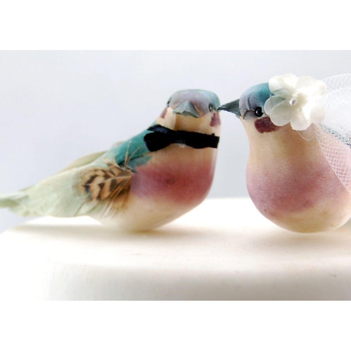 Topo para Bolo - Passarinhos Coloridos