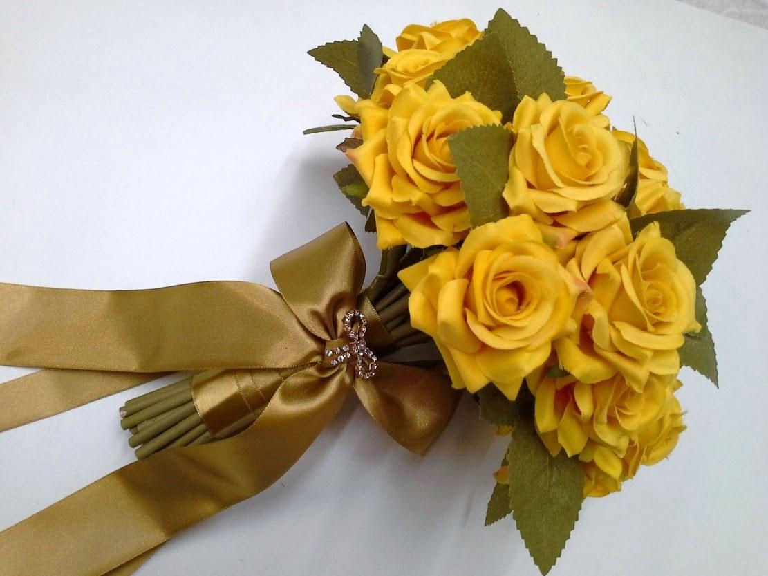 Buquê da noiva - Amarelo Precioso