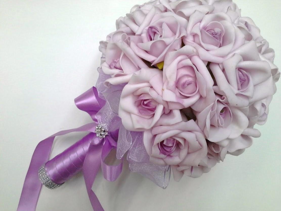 Buquê da noiva - Lilás Suave