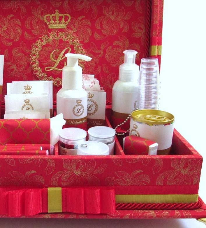 Caixa de toalete - kit de casamento - Amor Intenso