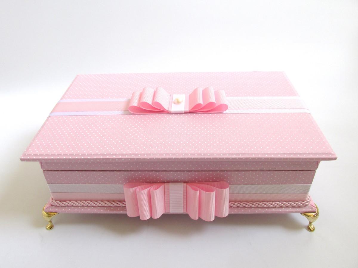 Caixa de toalete - kit de casamento - Pequenos Poás