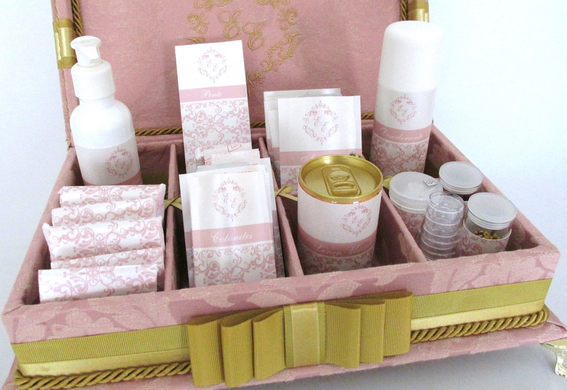 Caixa de toalete - kit de casamento - Guava
