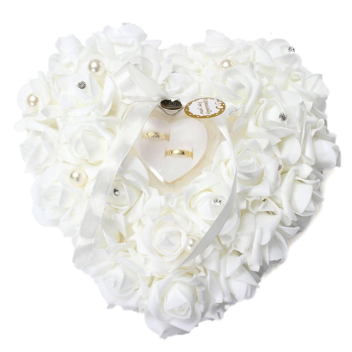 Porta-Alianças de Casamento - Coração