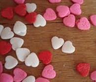 Arroz dos noivos - coração colorido