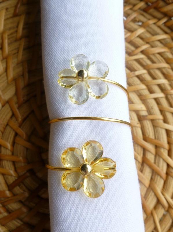 Porta-Guardanapo para casamento - Flores Amarelas