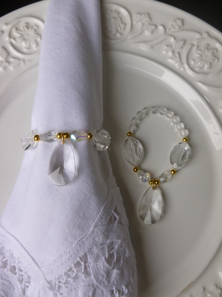 Porta-Guardanapo para casamento - Gota Cristal