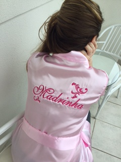Robe para Madrinha - Rosa Claro Arabesco pink