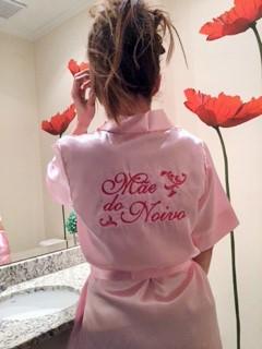 Robe Mãe do Noivo - Rosa Claro Arabesco pink