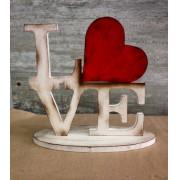 NOVA!! Palavra Love em estilo r�stico- chic