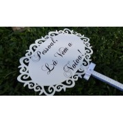 Placa de Casamento - Noiva - cabo forrado JE03