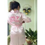 Robe Mãe da Noiva - Rosa Claro Arabesco pink