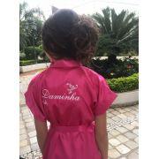 Robe personalizado para Daminha Pink ou Branco