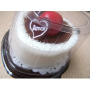 Torta Baunilha Chocolate - Lembrança de Casamento