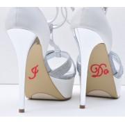 Sapato para Noiva - adesivo Cristal Vermelho